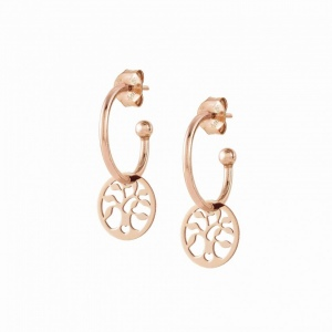 Kolczyki Nomination Rose Gold - Melodie Earrings with Tree of Life 147703/017