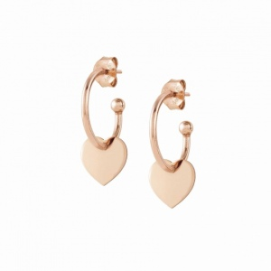 Kolczyki Nomination Rose Gold - Melodie Hoop Earrings with Hearts 147703/022