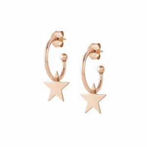 Kolczyki Nomination Rose Gold - Melodie Hoop Earrings With Stars 147703/023