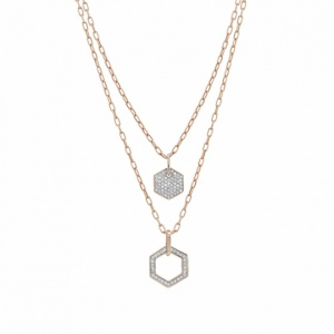 Naszyjnik Nomination Rose Gold - Emozioni Necklace With Double Chain 147802/001