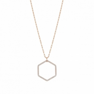 Naszyjnik Nomination Rose Gold - Emozioni Necklace With Hexagon Pendant 147813/001