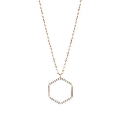 Naszyjnik Nomination Rose Gold - Emozioni Necklace With Hexagon Pendant 147813/001