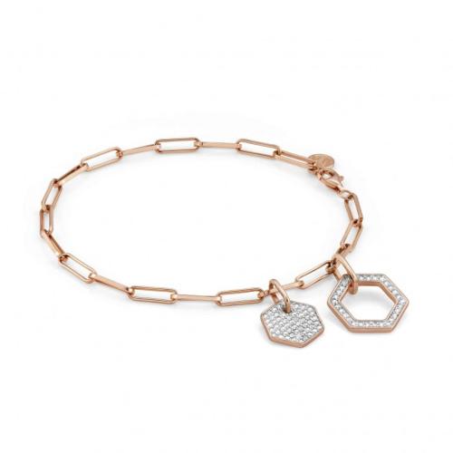Bransoletka Nomination Rose Gold - Emozioni Bracelet With Pendants And Zirconia 147801/001