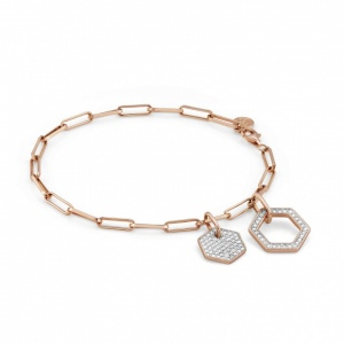 Bransoletka Nomination Rose Gold - Emozioni Bracelet With Pendants And Zirconia 147811/001