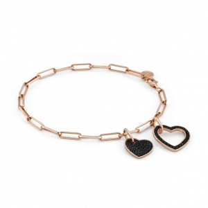 Bransoletka Nomination Rose Gold - Emozioni Bracelet With Hearts 147811/002