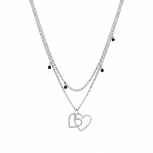 Naszyjnik Nomination Silver - Milleluci Necklace Hearts And Gemstones 028001/001