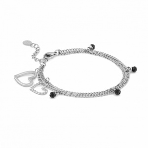 Bransoletka Nomination Silver - Milleluci Bracelet With Pendants And Hearts 028000/001