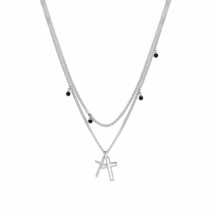 Naszyjnik Nomination Silver - Milleluci Necklace Cross And Gemstones 028001/028