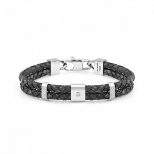 Bransoletka Nomination - Double Tribe Bracelet In Vintage Effect Leather 026435/001