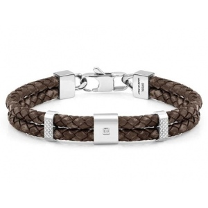 Bransoletka Nomination - Double Tribe Bracelet In Vintage Effect Leather 026435/003
