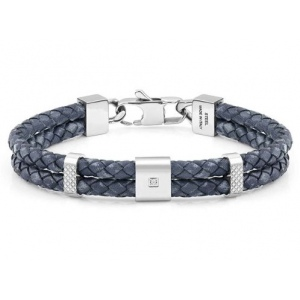 Bransoletka Nomination - Double Tribe Bracelet In Vintage Effect Leather 026435/004