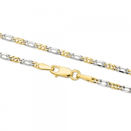Złoty Łańcuszek Figaro 50cm pr. 585