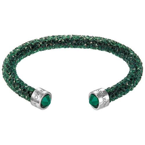 Bransoletka SWAROVSKI - Crystaldust Cuff, Green 5250690