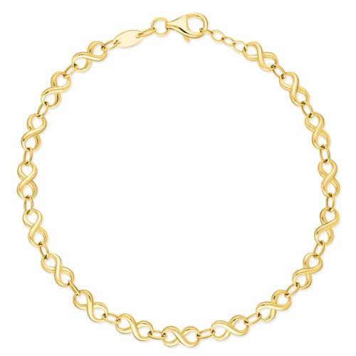 Złota Bransoletka - Nieskończoność 19cm pr. 585
