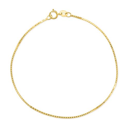 Złota Bransoletka Singapur 19cm pr.585
