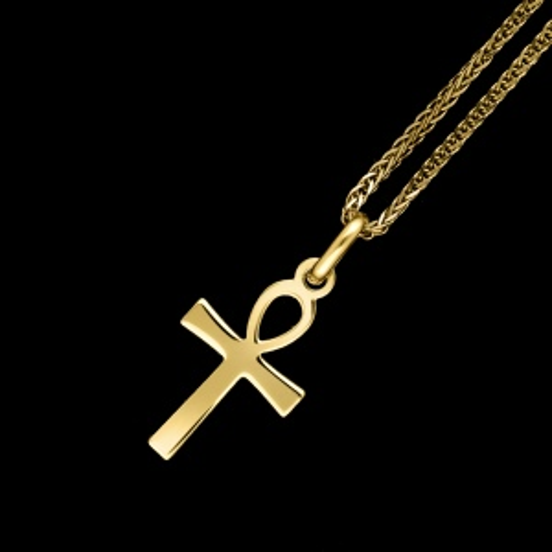 Złota zawieszka - Krzyż Ankh pr.333