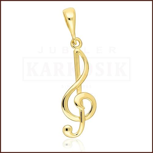 Złota zawieszka - Klucz wiolinowy pr.333