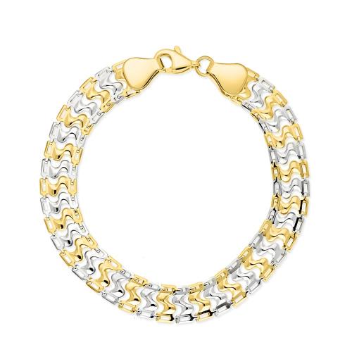 Złota szeroka bransoletka 18cm pr.333