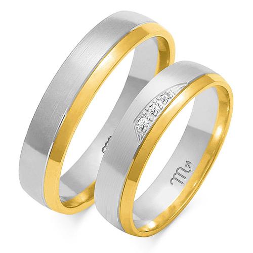 Obrączki ślubne Złoty Skorpion wzór OE-164 5mm pr. 585