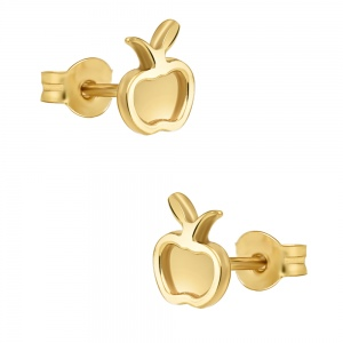 Złote kolczyki - Jabłka pr.333