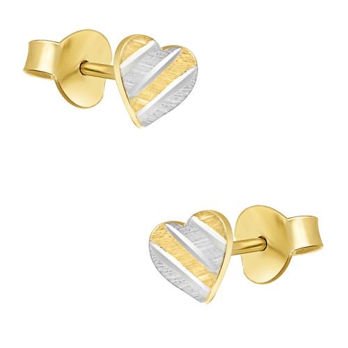 Złote kolczyki - Serca pr.333