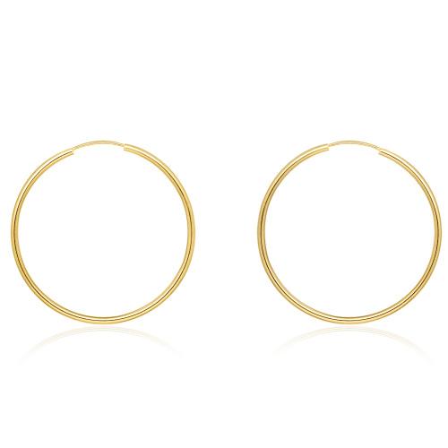 Złote kolczyki - Koła 37mm pr.333