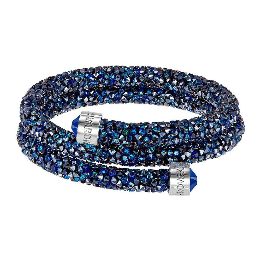 Bransoletka SWAROVSKI - Crystaldust Bangle Double, Blue 5237752