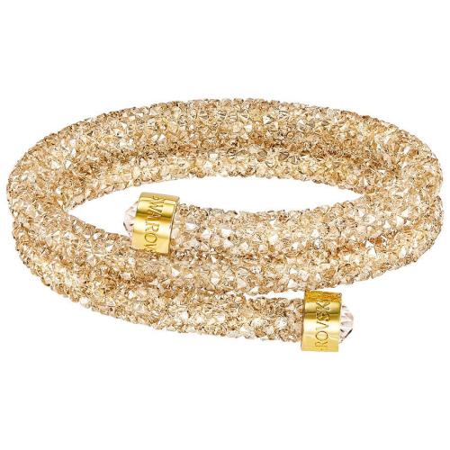 Bransoletka SWAROVSKI - Crystaldust Bangle Double, Golden Crystal 5237763 M