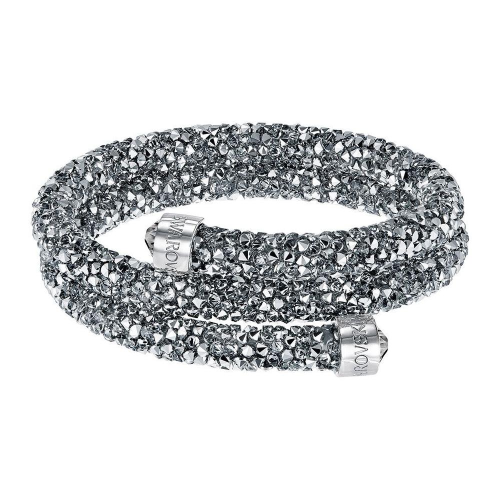 Bransoletka SWAROVSKI - Crystaldust Bangle Double, Gray 5237762