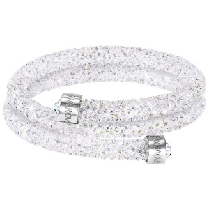 Bransoletka SWAROVSKI - Crystaldust Bangle Double, White 5255900 S