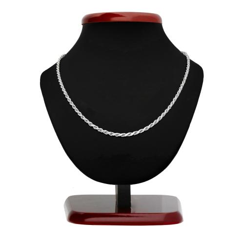 Srebrny łańcuszek - Kordel 55cm pr.925