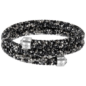Bransoletka SWAROVSKI - Crystaldust Bangle Double, White 5237754