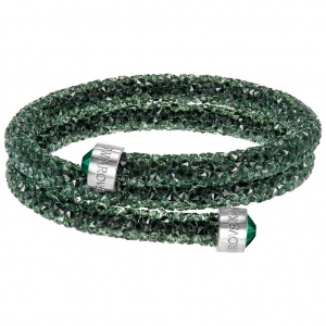 Bransoletka SWAROVSKI - Crystaldust Bangle Double, Green 5255901