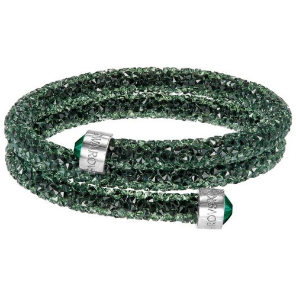 Bransoletka SWAROVSKI - Crystaldust Bangle Double, Green 5255901