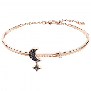 Bransoletka SWAROVSKI - Duo Moon Bangle, Jet 5429729 M