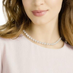Naszyjnik Swarovski - Angelic Necklace, White, Rose-Gold Tone Plated 5367845