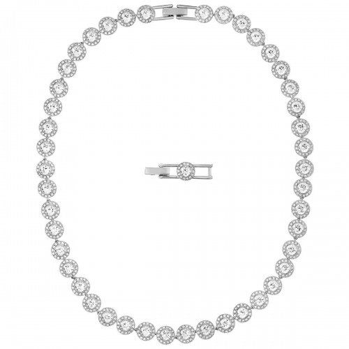 Naszyjnik Swarovski - Angelic Necklace, White, Rhodium Plated 5117703