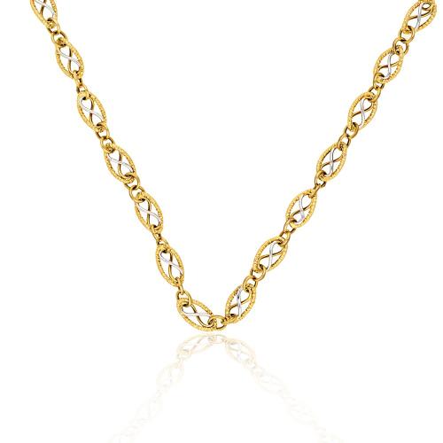 Złoty naszyjnik 47cm pr.585
