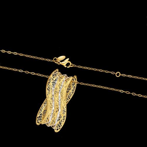 Złoty naszyjnik 42cm pr.585