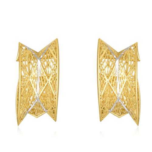 Złote kolczyki - Błyszcąca sieć pr.585