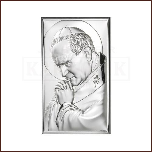 Srebrny obrazek - Święty Jan Paweł II