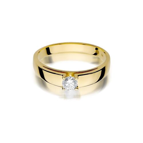 Pierścionek zaręczynowy z brylantem 0,23ct pr.585