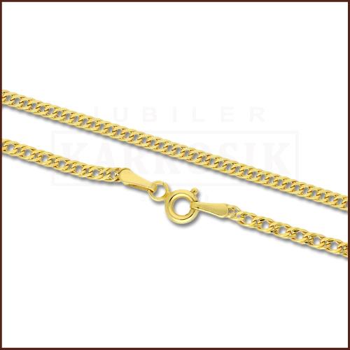 Złoty łańcuszek - Podwójna Pancerka 50cm pr.585