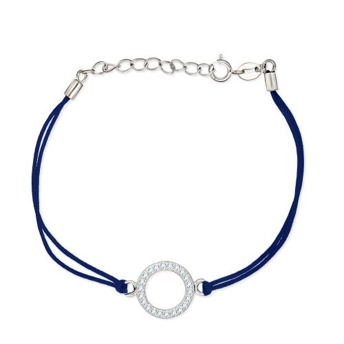 Bransoletka na sznurku - Ring pr.925