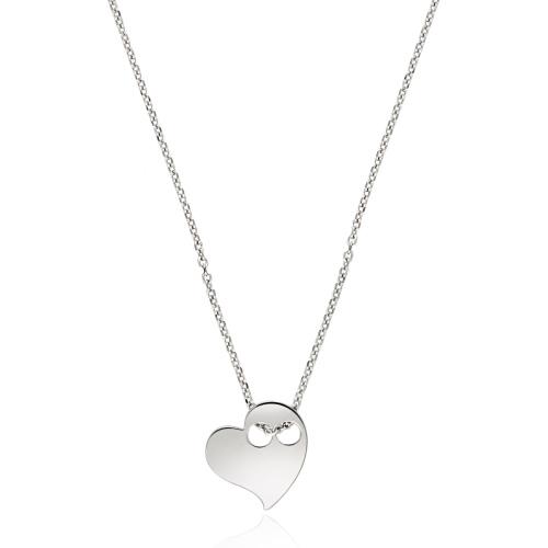 Srebrny naszyjnik celebrytka - Serce pr.925