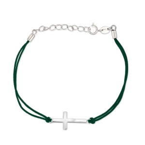 Bransoletka na sznurku - Krzyżyk pr.925