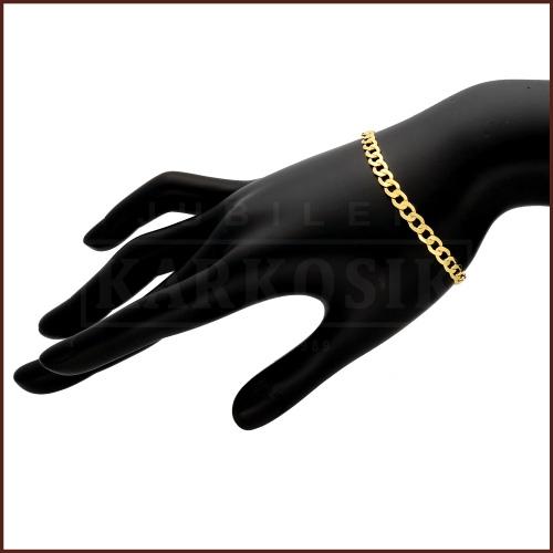 Złota Bransoletka Pancerka 22cm pr.585