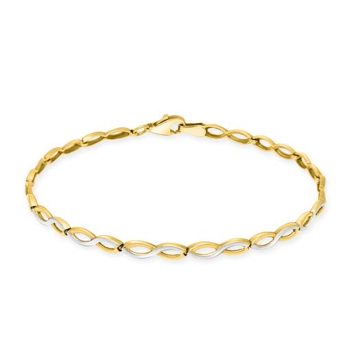 Złota bransoletka - Nieskończoność 18cm pr.333