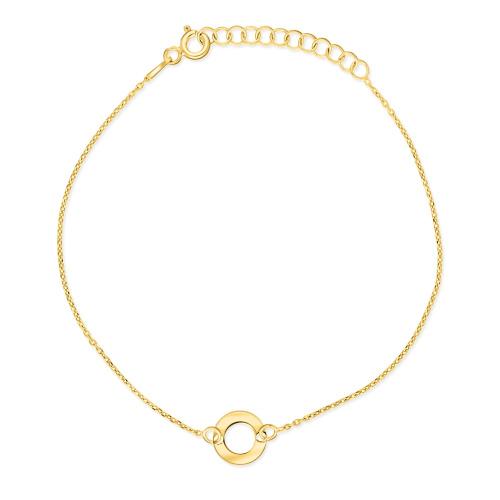 Pozłacna bransoletka celebrytka - Ring pr.925
