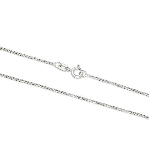 Srebrny łańcuszek - Kostka 42cm pr.925